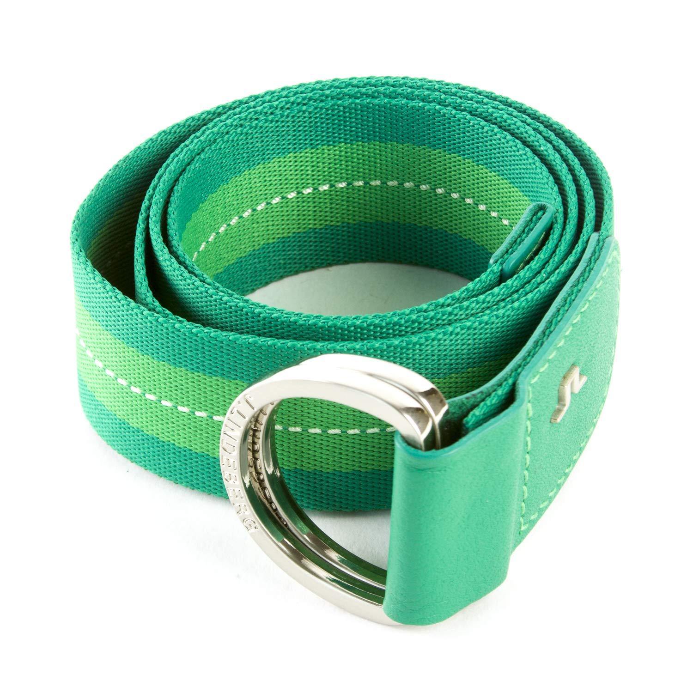 Medium Green//White LINDEBERG Mens D-Ring Canvas Belt J