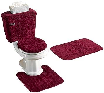 5 Piece Bathroom Rug Sets. 5 Piece Bath Rug Set Burgundy