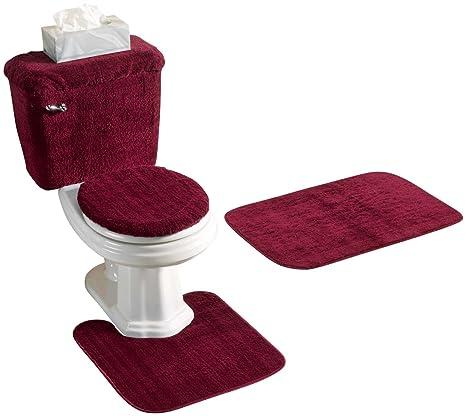 5 Piece Bathroom Rug Sets.5 Piece Bath Rug Set Burgundy