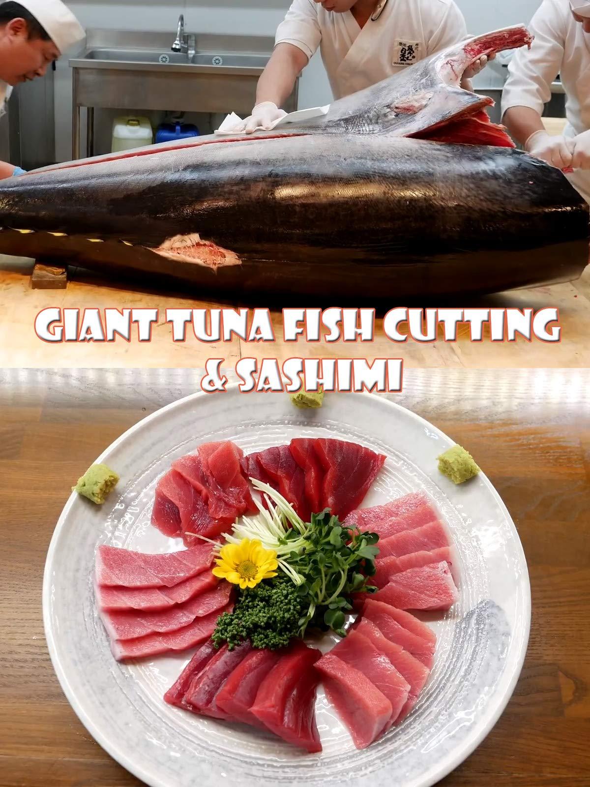 Clip: Giant Tuna Fish Cutting & Sashimi