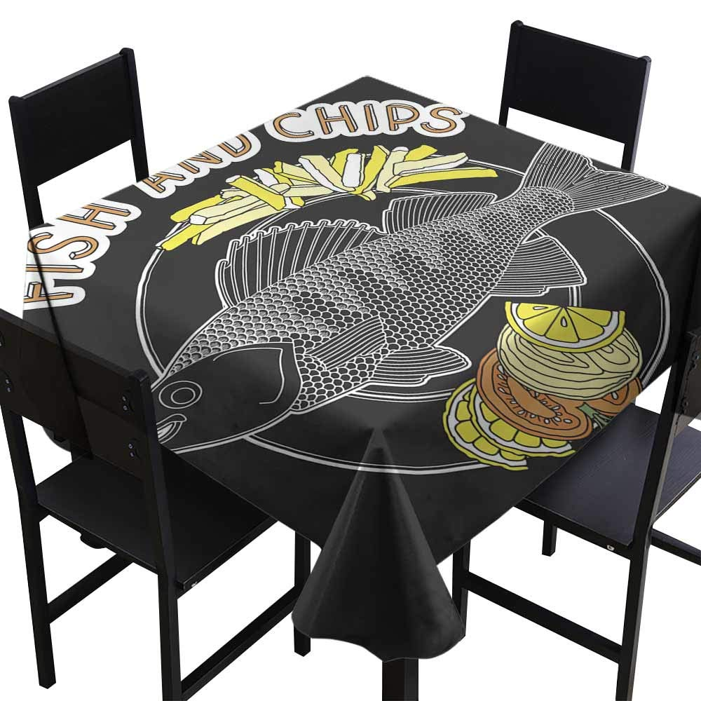 amazon com skdsarts modern waterproof table clothes fish and chips rh amazon com
