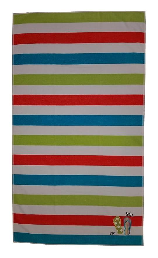 Lasa Chanclas 18479 7 - Toalla de playa de terciopelo, 100 x 180 cm,