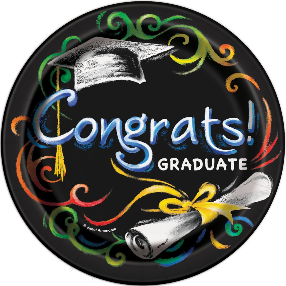 18 Foil Chalkboard Graduation Balloon