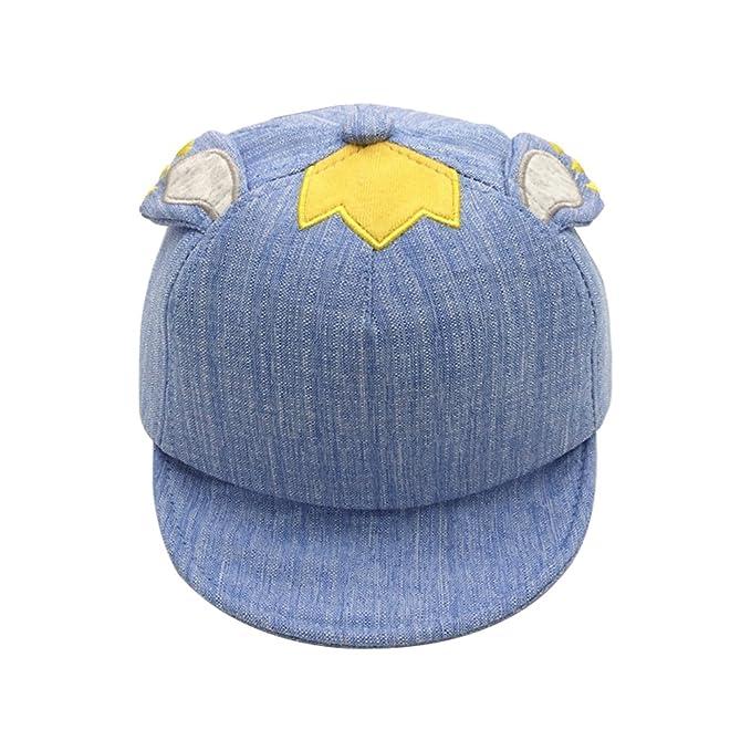 Gysad Dibujos Animados Sombrero Bebe Forma de Oreja Sombrero Niños Protector Solar Gorras Planas Size 40