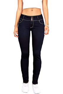 fe2d0c0dd90597 Wax Women s Juniors Basic Stretchy Fit Skinny Jeans at Amazon ...