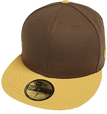 5694ef69 New Era Brown Camel 2 Tone Blanc Blank 59fifty 5950 Fitted Cap Kappe Men at Amazon  Men's Clothing store: