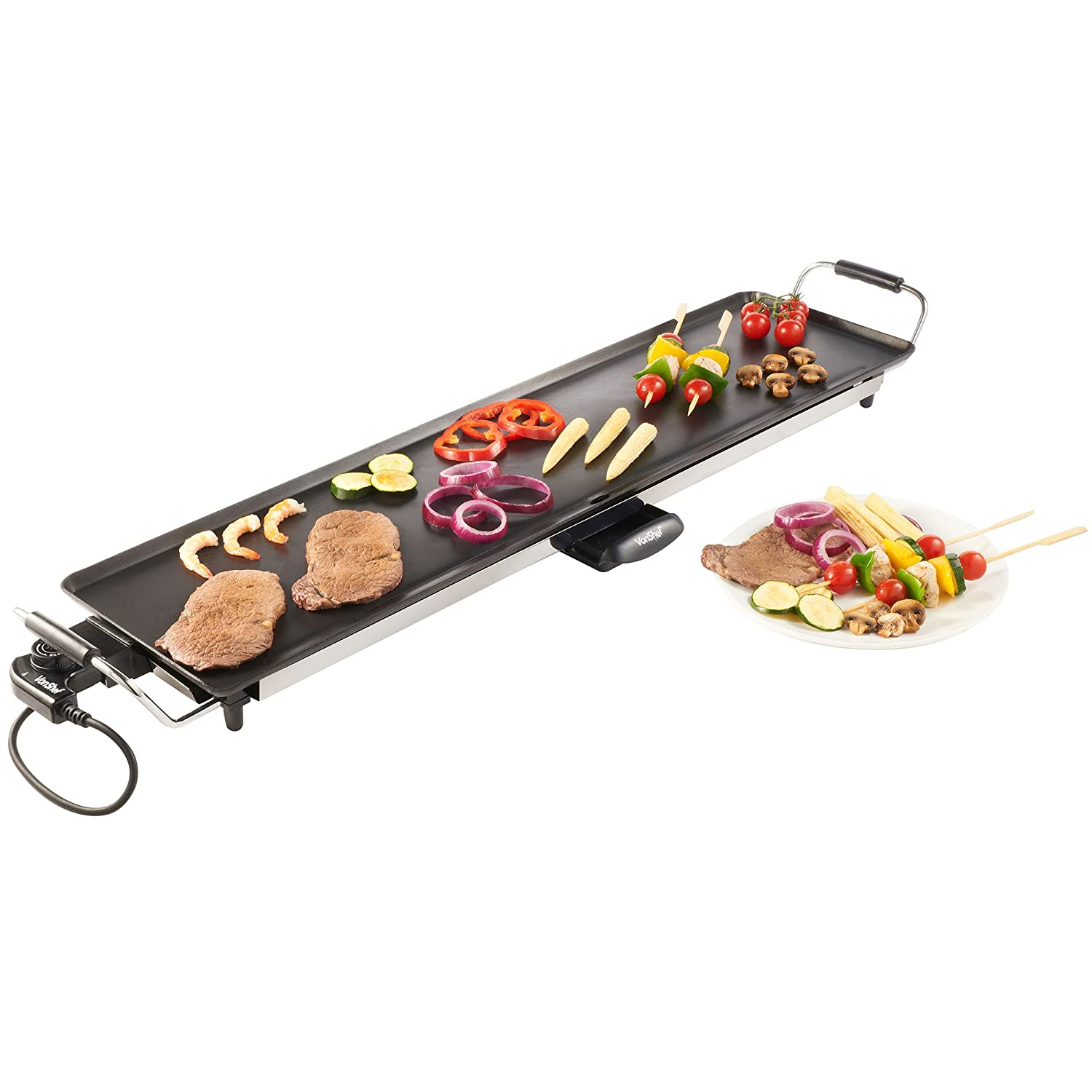 VonShef Electric XXL Teppanyaki Style Barbecue Table Grill Griddle ...