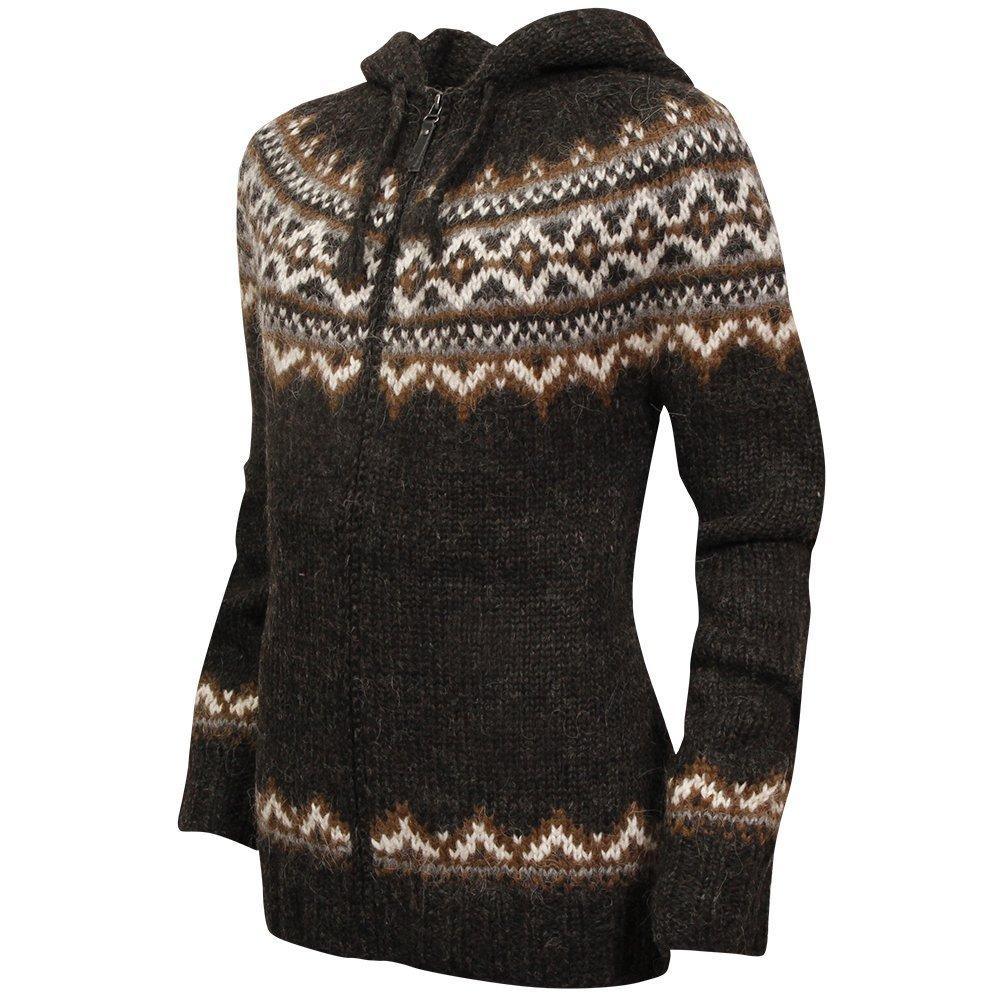 749df0639728 ICEWEAR Brynja 100% Icelandic Wool Hand Knitted Jumper with Zipper ...
