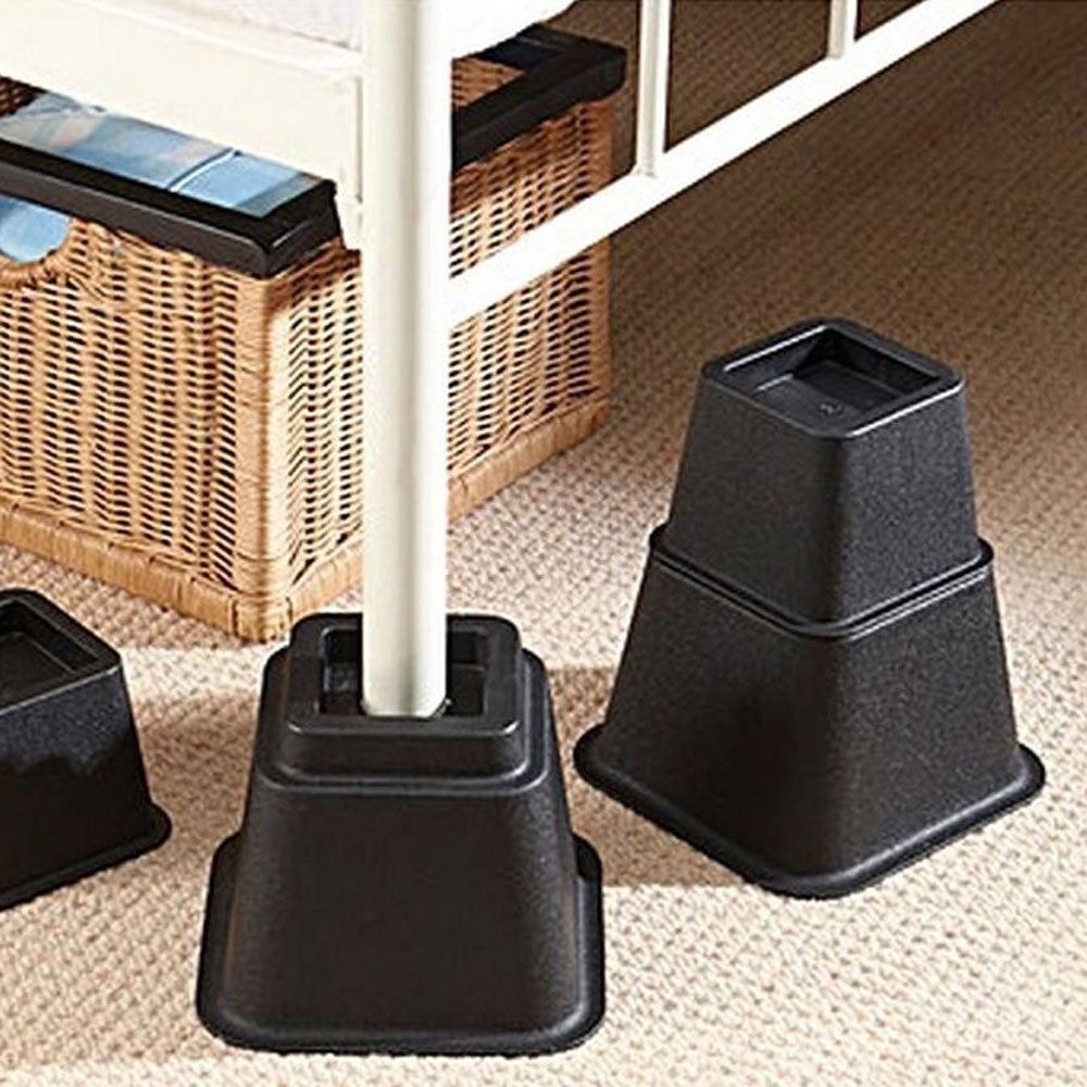 Home Solutions Premium Adjustable Bed Risers Or Furniture Risers 3, 5 Or  8 Inch Bed Riser, Table Risers, Chair Risers Or Sofa Risers