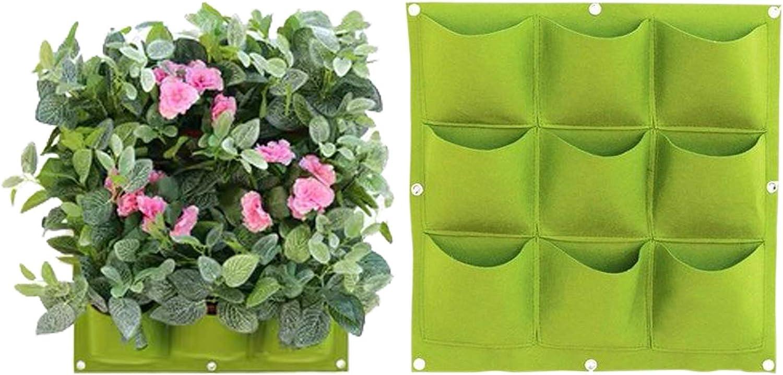 BushWalk Vertical Wall Hanging Garden Planter Plant Grow Bags for Flower Vegetable Indoor/Outdoor (9 Pockets)