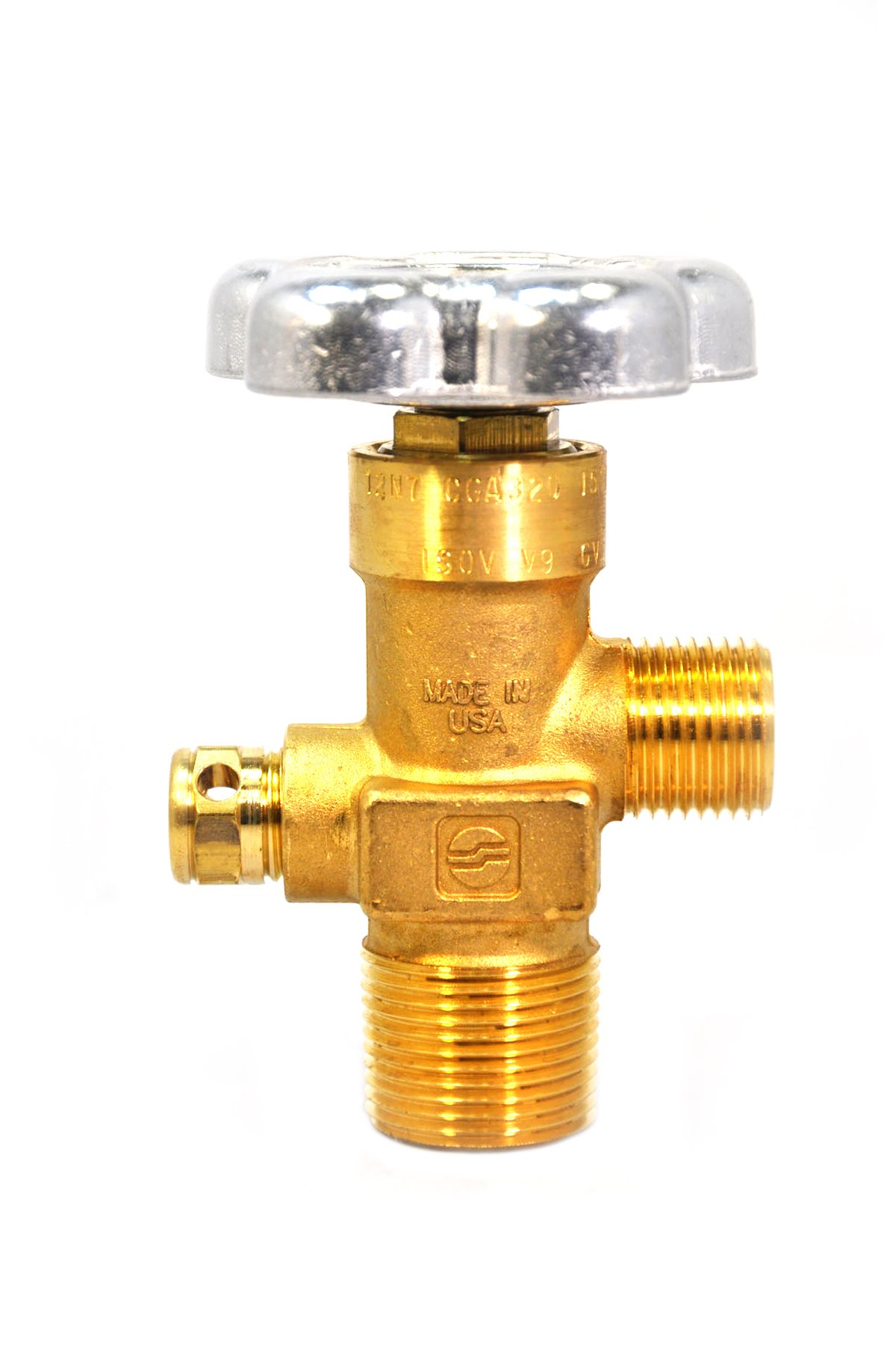 Sherwood Global Valve GV32081-28 With 3000 PSI 1'' NGT GV Series O-Ring Style CGA 320 For Carbon Dioxide Service by Sherwood