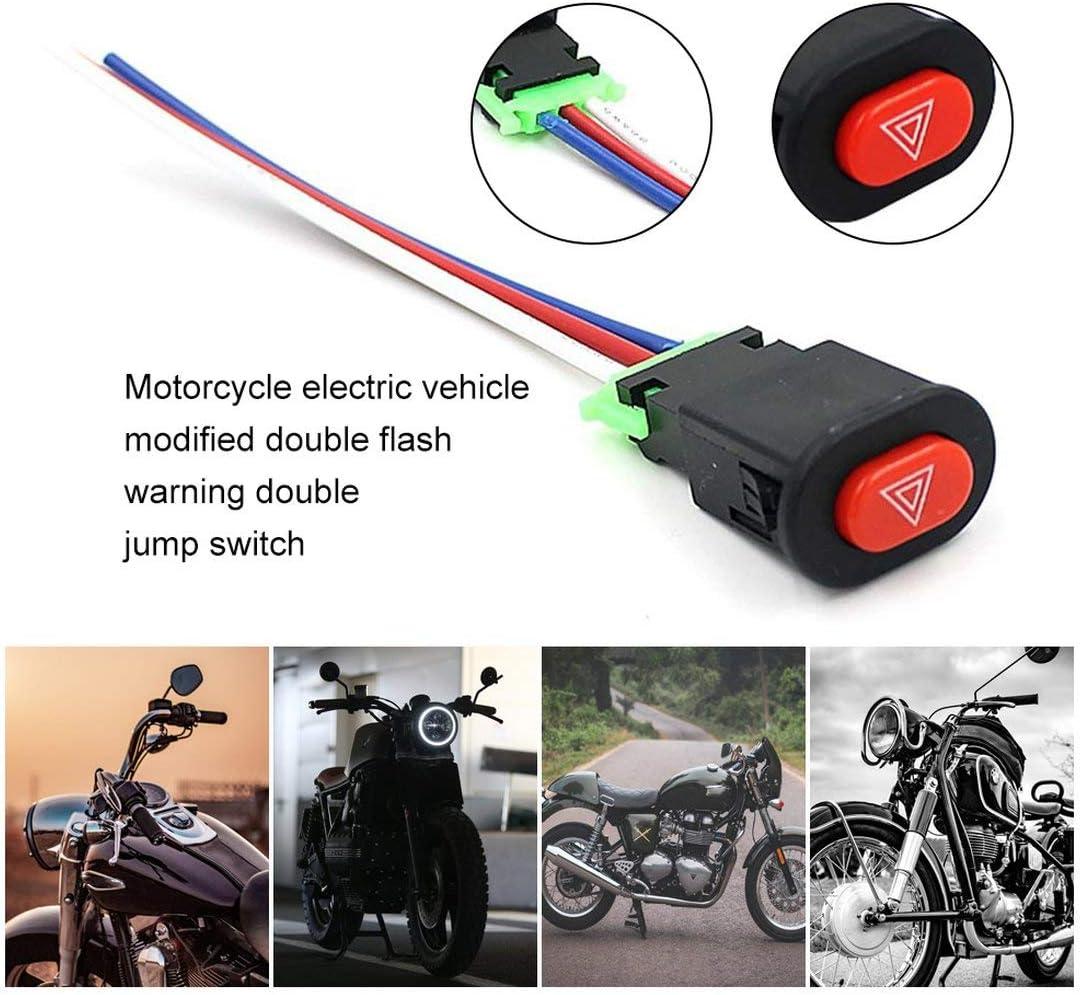 Veh/ículo el/éctrico de motocicleta modificado doble flash de advertencia doble interruptor de salto