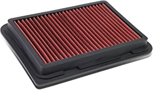 Replacement for Corolla/Yaris/Scion xD/iM 1.5L/1.8L Reusable & Washable Replacement High Flow Drop-in Air Filter (Red)
