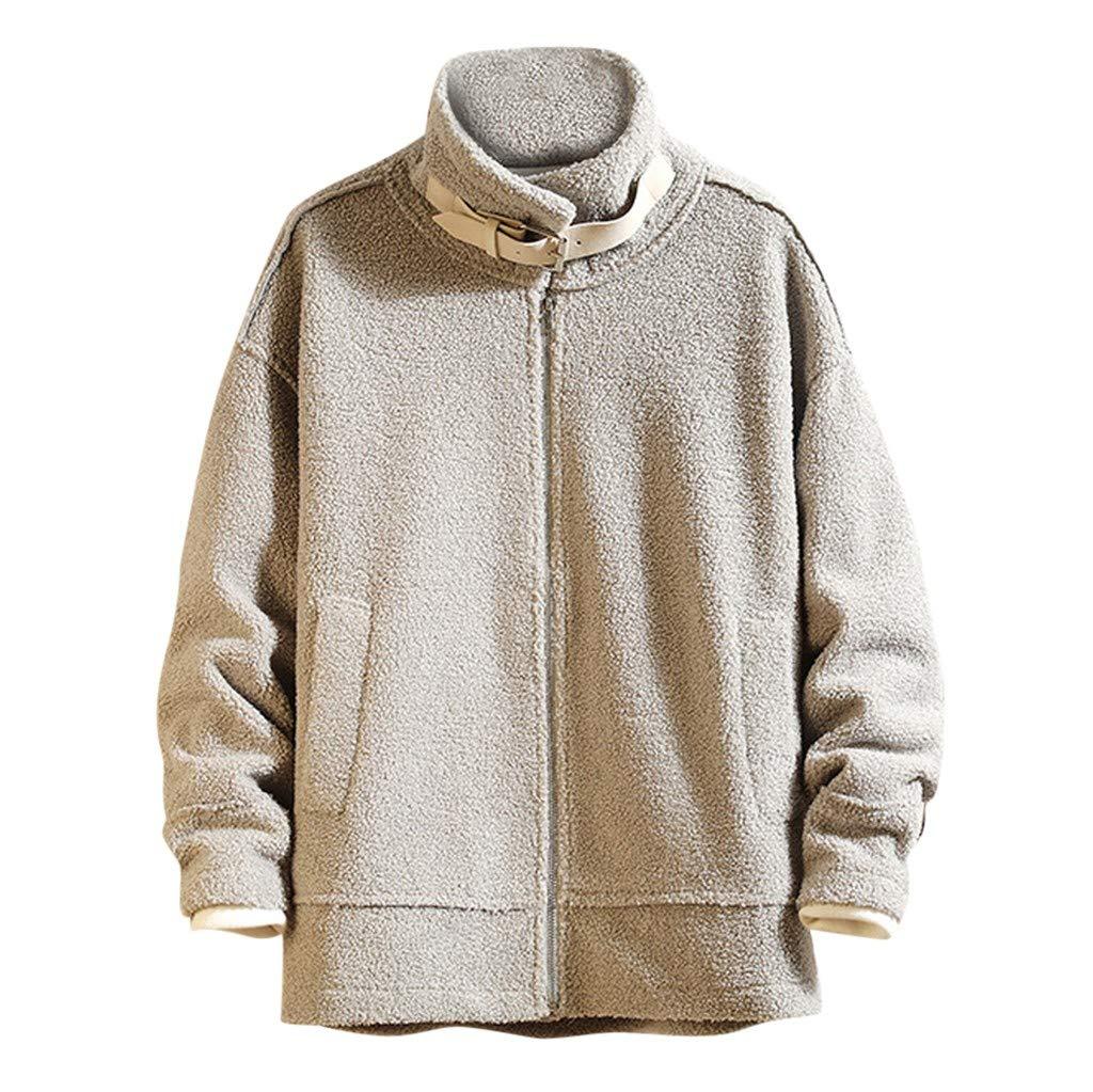 Alalaso Men Long Sleeve Tops, Outwear Hoodie Coat Jacket Sport Tops Gray by Alalaso