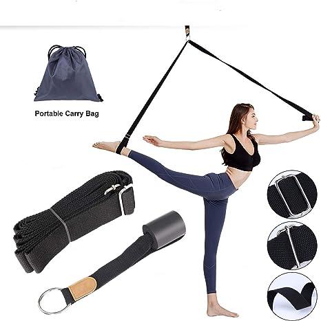 Easy Install on Door Flexibility Stretching Leg Strap Great Cheer Dance Gymnastics Trainer Stretching Equipment Taekwondo Training LHB Adjustable Leg Stretcher Lengthen Ballet Stretch Band