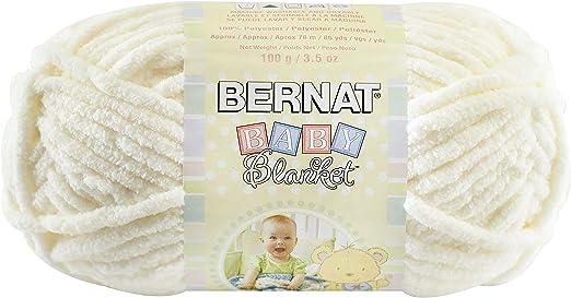 Bernat Baby Blanket Yarn, 3.5 oz, Gauge 6 Super Bulky, Vanilla
