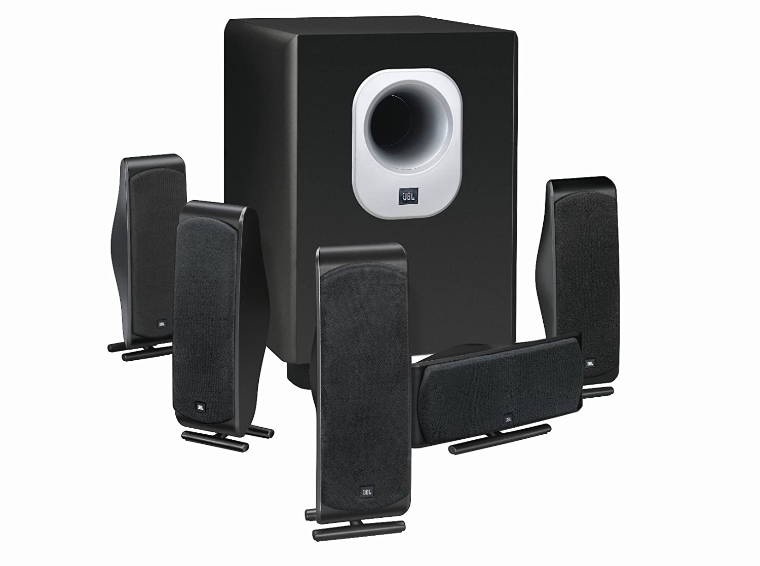 b4f3e5bae70b2 Amazon.com  JBL 5.1-Channel Surround Cinema Speaker System with 10-Inch  Subwoofer SCS500.5 (Discontinued by Manufacturer)  Home Audio   Theater