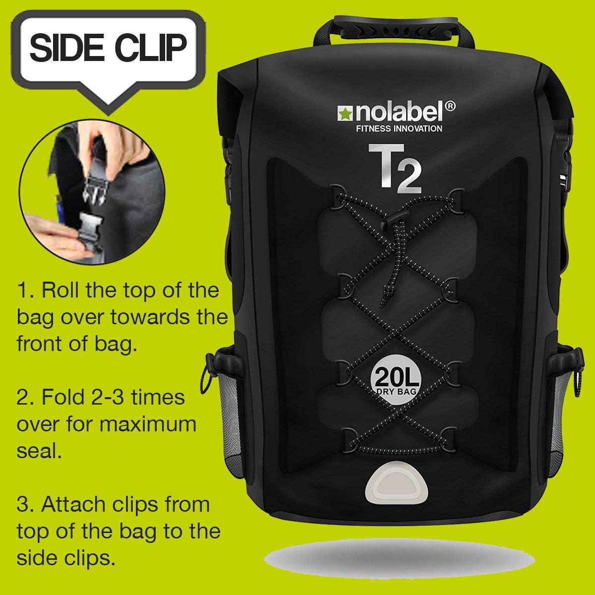Mochila deportiva de 20L impermeable - T2 Mochila para Ciclismo Running Triatlón y Deportes acuáticos. Protege del polvo, la arena, el agua y la suciedad ...