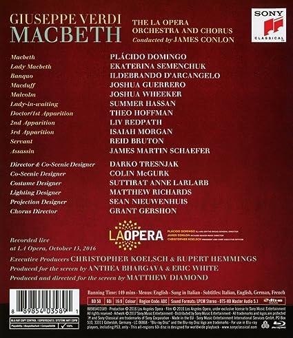Amazon Verdi Macbeth Blu Ray Plcido Domingo Ekaterina