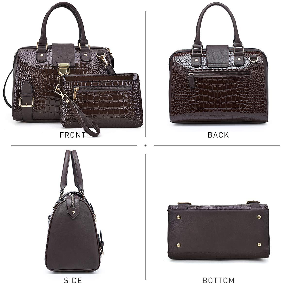 Dasein Women Barrel Handbags Purses Fashion Satchel Bags Top Handle Shoulder Bags Vegan Leather Tote Bags by Dasein (Image #3)