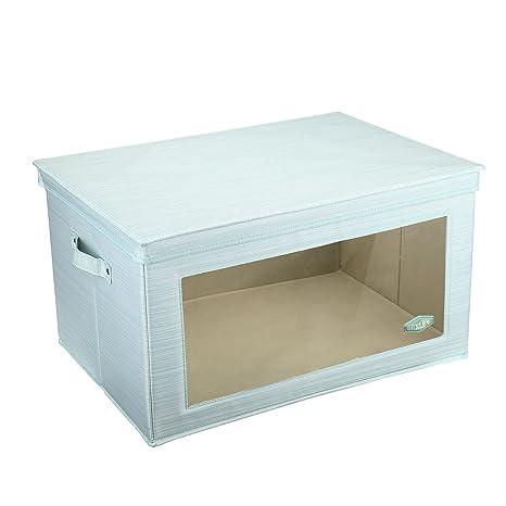 Cajas de Almacenamiento con Ventana, MEE Life Storage Box Contenedor de Almacenamiento Plegable de