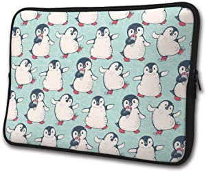 SWEET-YZ Laptop Sleeve Case Cute Penguins Notebook Computer Cover Bag Compatible 13-15 Inch Laptop