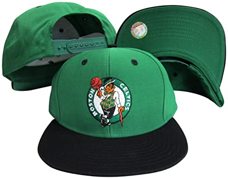 Amazon.com   adidas Boston Celtics Green Black Two Tone Snapback ... 80dde98e10c