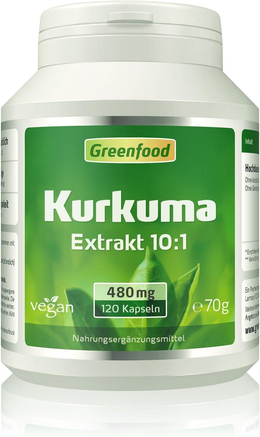 Extracto de raíz de cúrcuma (10:1), 480 mg, 120 cápsulas ...