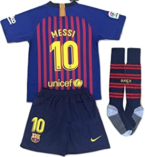 5c9f52a8cd2 MSK-Store Messi #10 FC Barcelona 2018-2019 Youths Home Soccer Jersey,