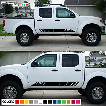 2x decal sticker vinyl side stripes compatible with nissan frontier navara 2004 2017
