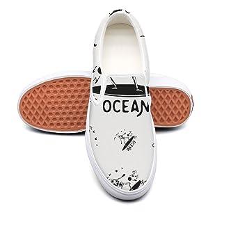 RegiDreae Canvas Slip on Sneakers for Women Fashion Sneaker Comfortable Flat Shoes