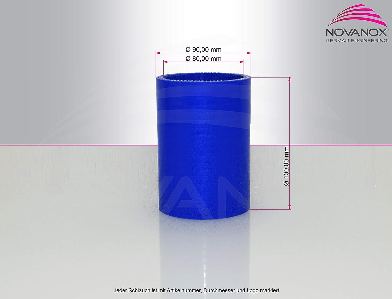 blu tubo dellacqua refrigerante Air flessibile turbo Raccordo dritto in silicone tubo in silicone /Ø 80 mm