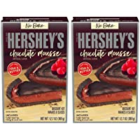 Hershey's No Bake Chocolate Mousse Dessert Kit - 2 Pack - 1 Box Makes 8 Slices