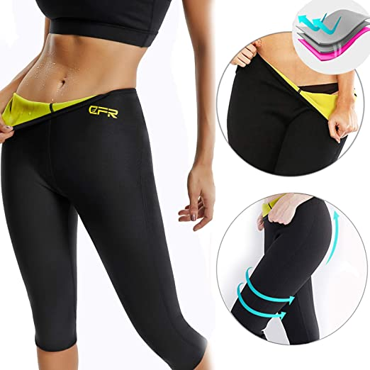 e1b0c323274a1 CROSS1946 Women s Slimming Thermo Capri Pants Leggings Yoga Hot Neoprene  Sweat Sauna Body Shapers for Weight