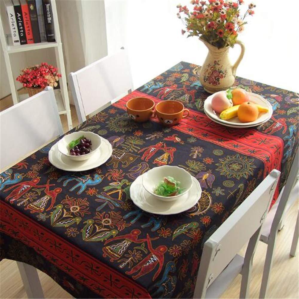 LYJZH Mantel de Lino de algodón Impreso Mantel del hogar Cubierta Universal paño Estilo Hotel Mantel 60 * 60 cm
