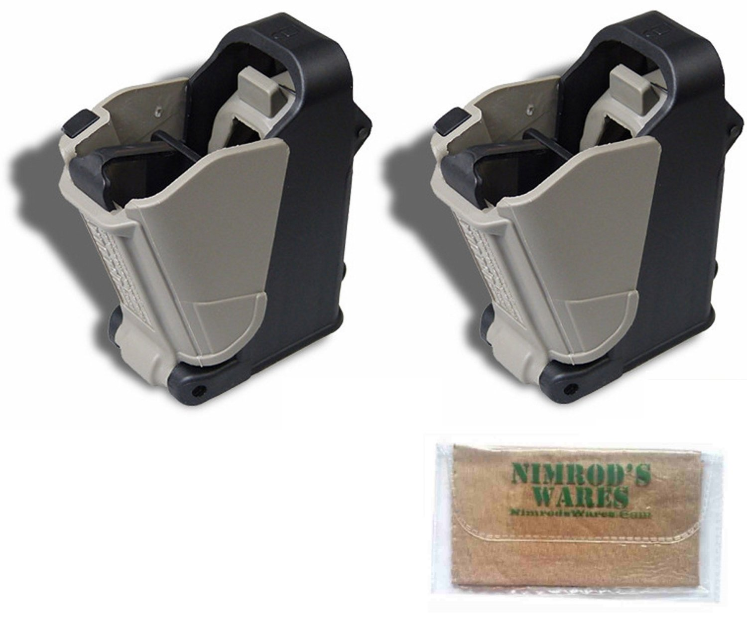 Nimrod's Wares 2-Pack MAGLULA 22LR Double-Stack+Converted Magazine Loader/Unloaders UP62B Microfiber Cloth