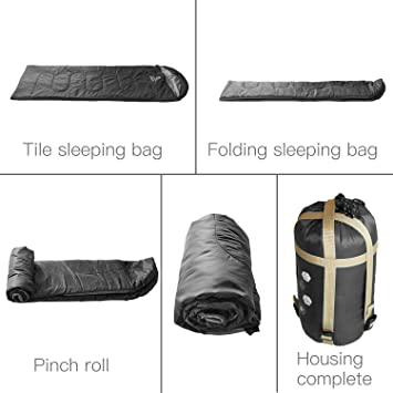 Amazon.com : ECOOPRO Warm Weather Sleeping Bag - Portable, Waterproof, Compact Lightweight, Comfort with Compression Sack - Great for Outdoor Camping, ...
