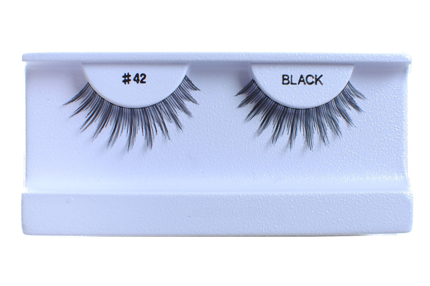 100 Pairs 100% Human Hair False Eyelashes Natural Black #42 by BULKLASHES