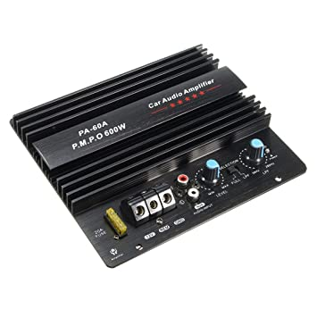 Amplificador de Audio para automóvil de Alta Potencia 12V Mono 600W Amplificador de subwoofers de bajo