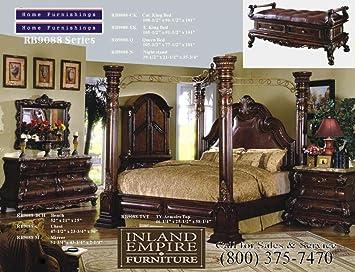 Michael Amini 5pc Villa Valencia California King Size Canopy