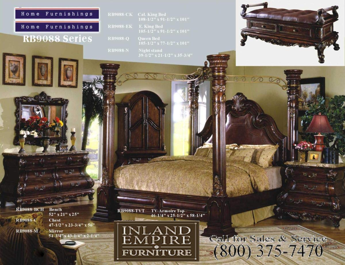 Amazon Com Inland Empire Furniture Queen Size Crown Post Canopy Bed