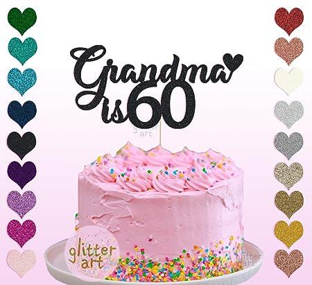 Decoración personalizada para tarta con el nombre de 60 ...