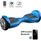 """EVERCROSS Q3 Patinete Eléctrico Scooter Hoverboard y certificado UL2272 talla 6.5"""" Blutooth"""