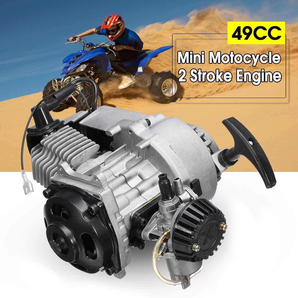 49cc 2-Stroke CDI Hand Pull Start Engine Motor For Pocket Bike Mini Dirt Bike ATV Scooter by Unkows (Image #1)