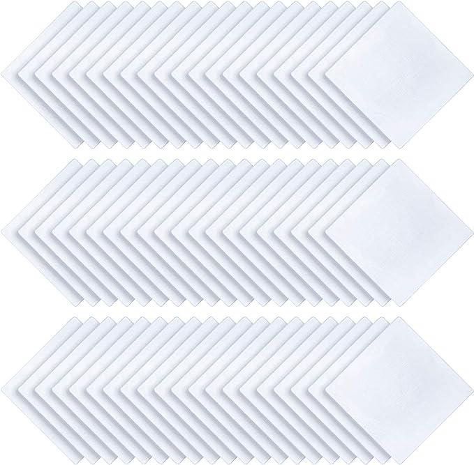 60 Piezas Pañuelo de Algodón para Mujeres Pañuelos Blancos de Dama ...