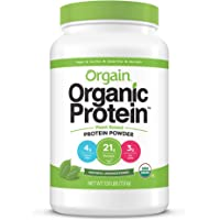 Orgain Organic Plant Based Protein Powder, Natural Unsweetened - Vegan, Low Net Carbs, Non Dairy, Gluten Free, Lactose…