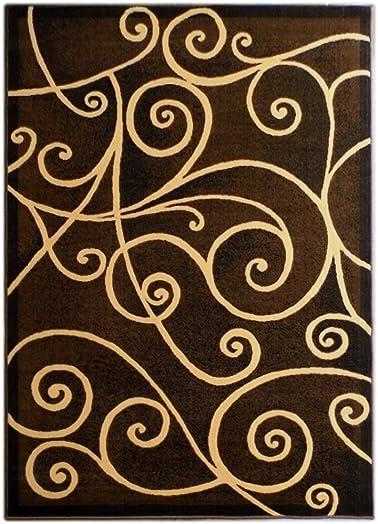 Modern Area Rug Design GL 23 Chocolate 8 Feet X 10 Feet