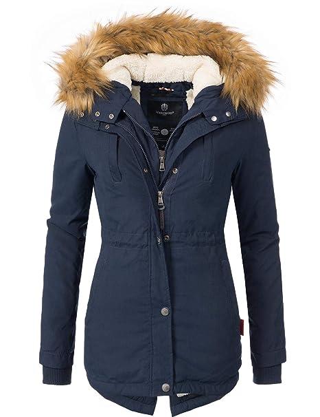 buy popular 3e9f4 2da7b Marikoo Damen Mantel Wintermantel Winterparka Akira 8 Farben XS-XXL
