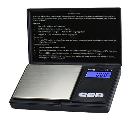 Báscula digital de precisión de bolsillo - Peso máximo: 100 g/Granularidad: 0
