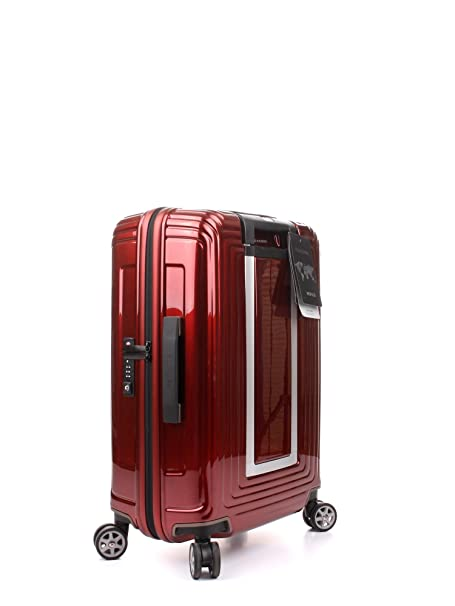 Amazon.com | Samsonite Neopulse Suitcase 4 Wheel Spinner 55cm Cabin Metallic Red | Carry-Ons